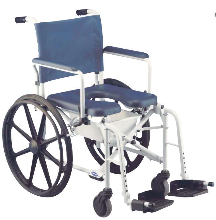 sedia per wc e doccia ruote piccole - sanitaria polaris srl