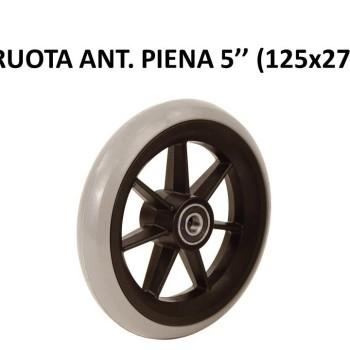 RUOTA ANT. PIENA 5'' (125x27)