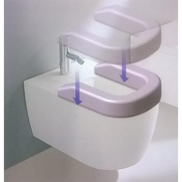 Rialzo wc bidet comfort seat sanitaria polaris srl - Rialzo per bagno ...